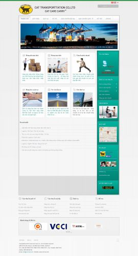 Mẫu website vận chuyển 10418