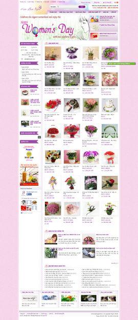 Mẫu website bán hoa 10112