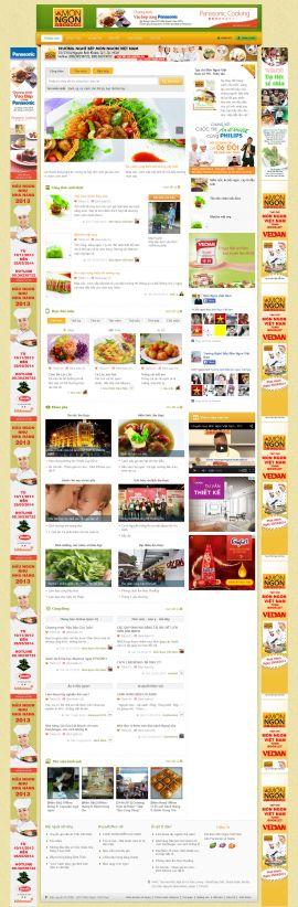 Mẫu website giới thiệu món ngon 10359