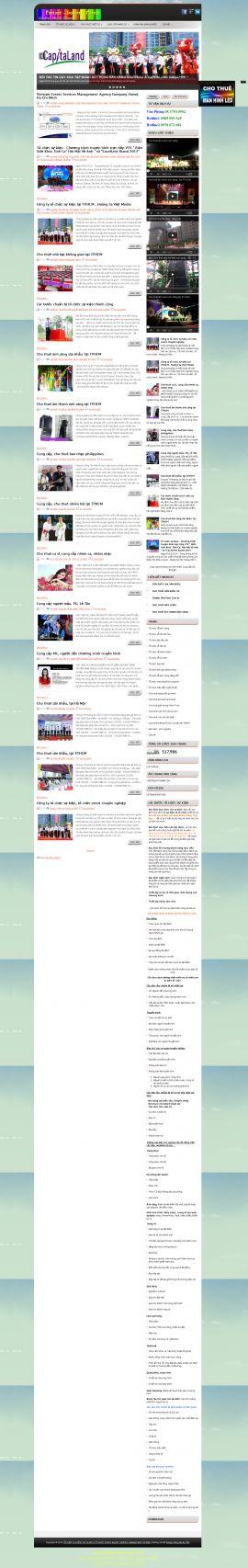 Mẫu website tổ chức sự kiện 10379