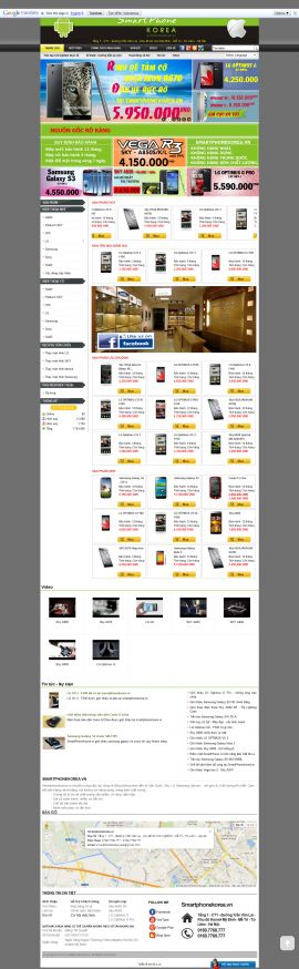 Mẫu website bán điện thoại 1007