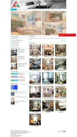 Mẫu website thi công nội thất - xây dựng 10233
