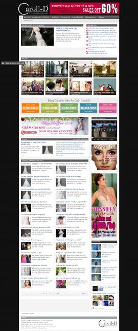Mẫu website áo cưới 10322