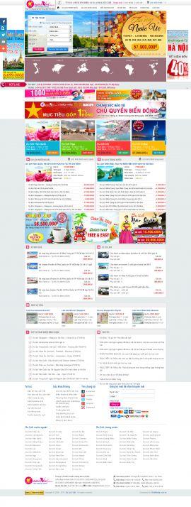 Mẫu website du lịch 1056