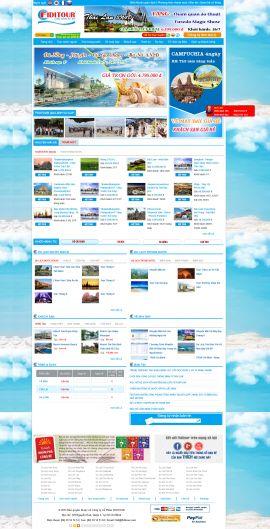 Mẫu website du lịch 1057