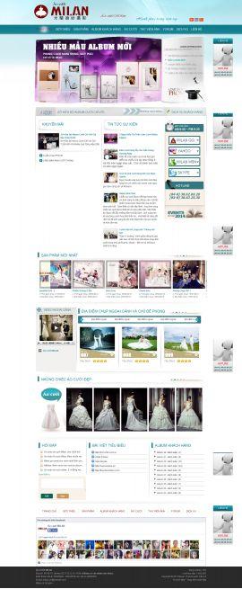 Mẫu website áo cưới 10323