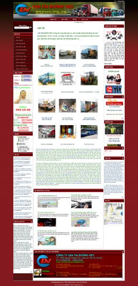 Mẫu website vận chuyển 10421