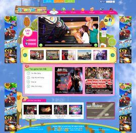 Mẫu website giải trí 10441