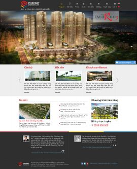 Mẫu website bất động sản 1026
