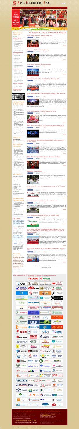 Mẫu website tổ chức sự kiện 10382