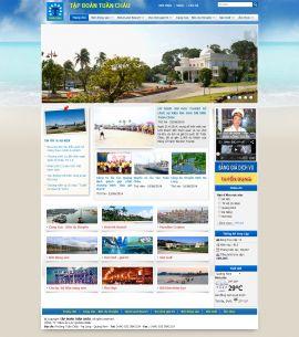 Mẫu website du lịch 10442
