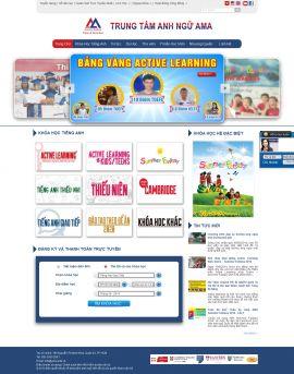 Mẫu website trung tâm anh ngữ 1080