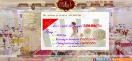 Mẫu website nhà hàng tiệc cưới 10217