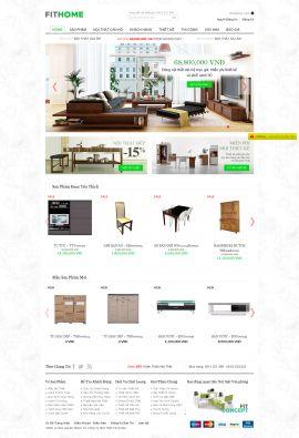 Mẫu website thi công nội thất 10236