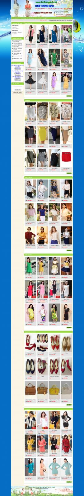 Mẫu website thời trang 10345