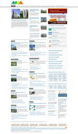Mẫu website bất động sản 10157