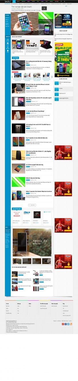 Mẫu website tin tức công nghệ 10196