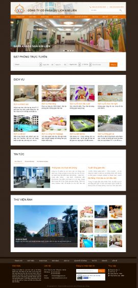 Mẫu website nhà hàng khách sạn 10218