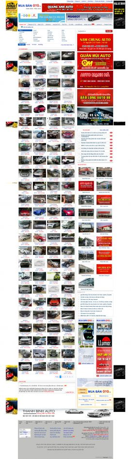 Mẫu website Ôtô - xe máy 10257