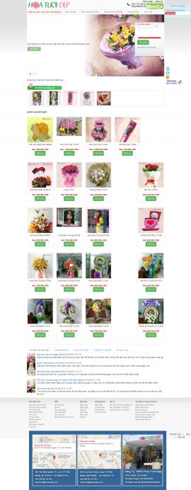 Mẫu website bán hoa 10113