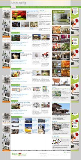 Mẫu website thiết kế nội thất 10158
