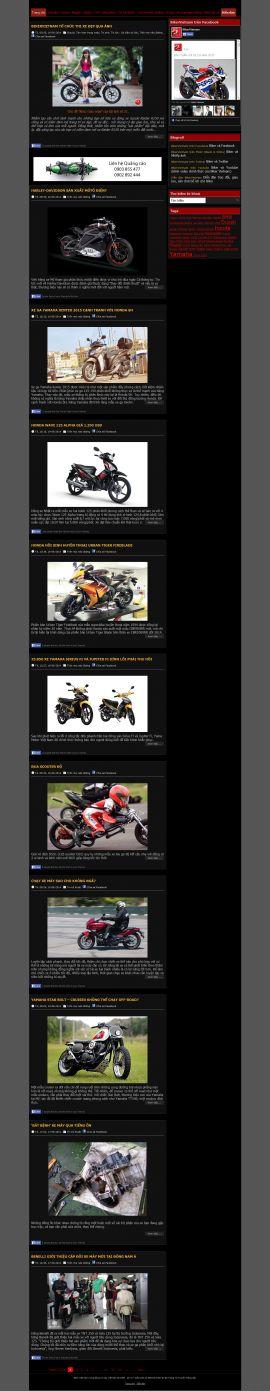 Mẫu website Ôtô - xe máy 10258