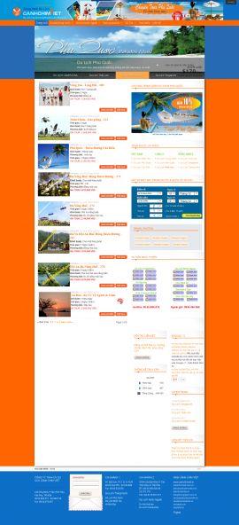 Mẫu website du lịch 1061