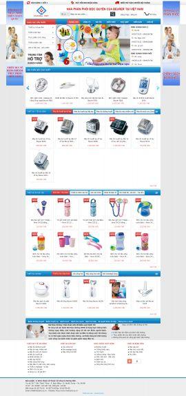 Mẫu website thiết bị y tế 10458