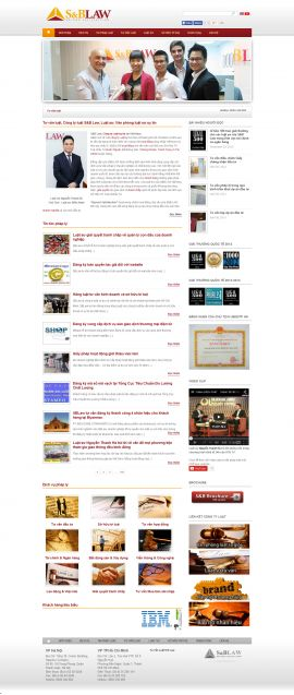 Mẫu website luật 10179
