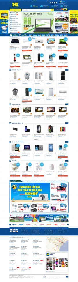 Mẫu website thương mại điện tử 10198