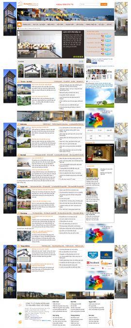 Mẫu website thi công nội thất và xây dựng 10240