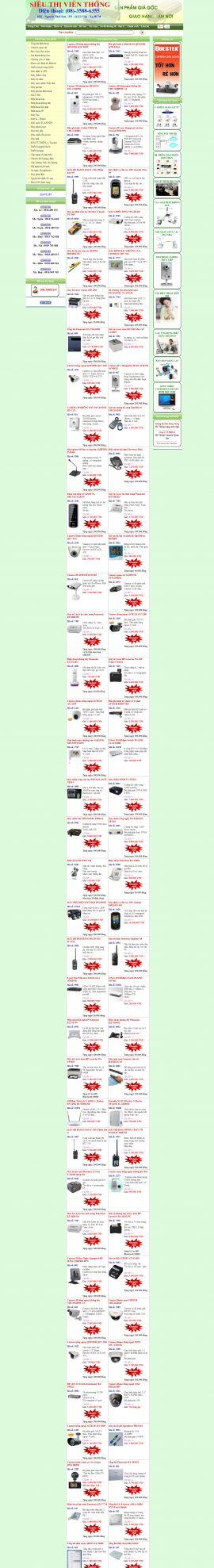 |Mẫu website siêu thị 10308