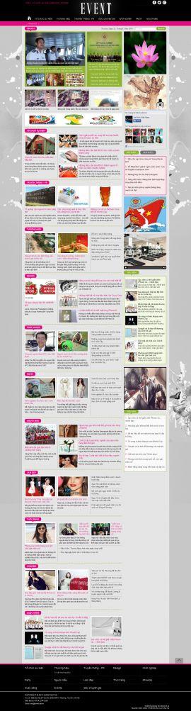Mẫu website tổ chức sự kiện 10386