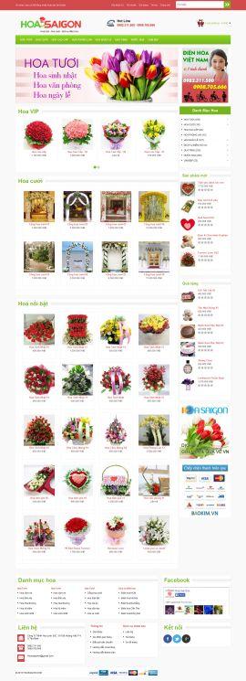 Mẫu website bán hoa 10120