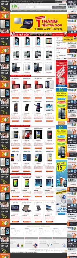 Mẫu website thương mại điện tử 10199