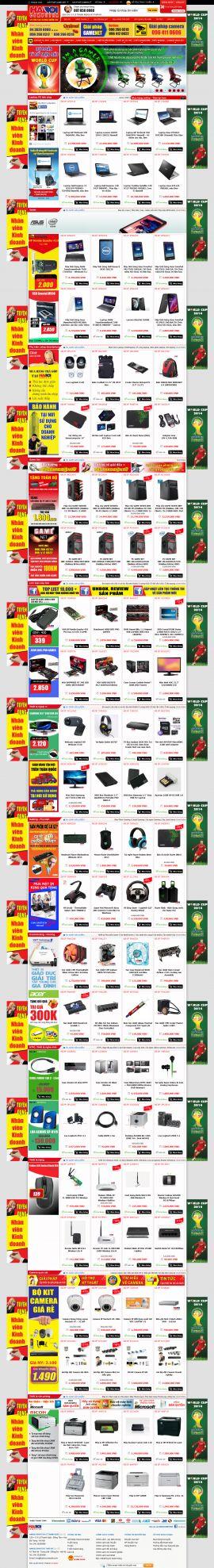 Mẫu website bán hàng điện tử 10200