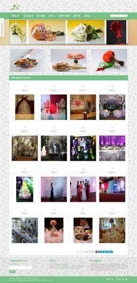Mẫu website bán hoa 10121