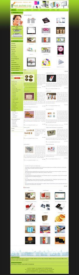 Mẫu website thiết kế quảng cáo 10143