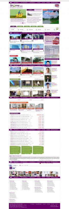 Mẫu website bất động sản 1031