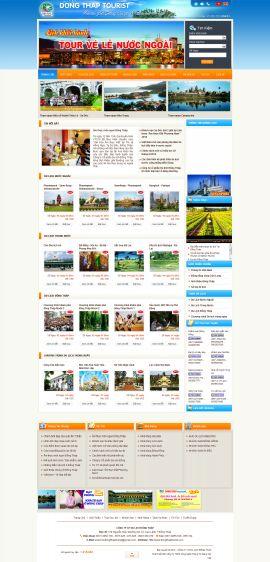 Mẫu website du lịch 10221