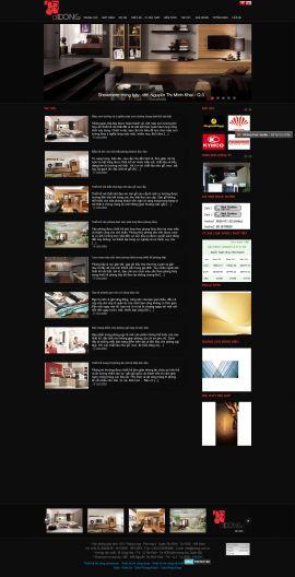 Mẫu website thi công nội thất và xây dựng 10242