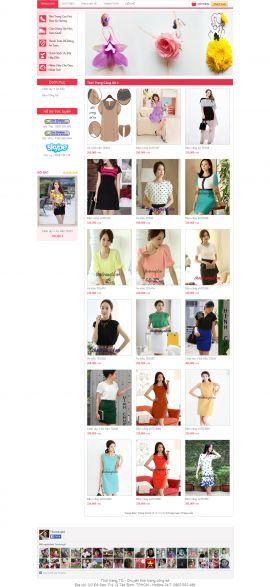 Mẫu website thời trang 10349
