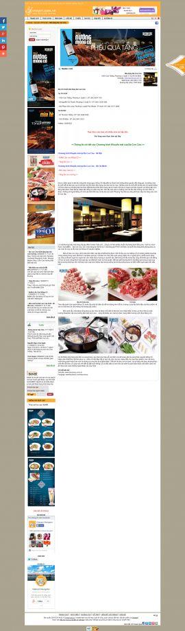 Mẫu website nhà hàng khách sạn 10368