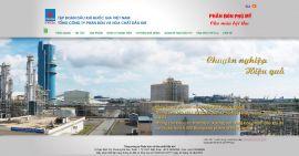 Mẫu website giới thiệu công ty dầu khí 10103