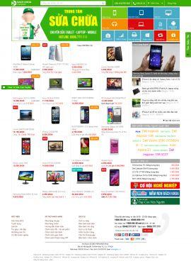 Mẫu website linh kiện điện tử 10201