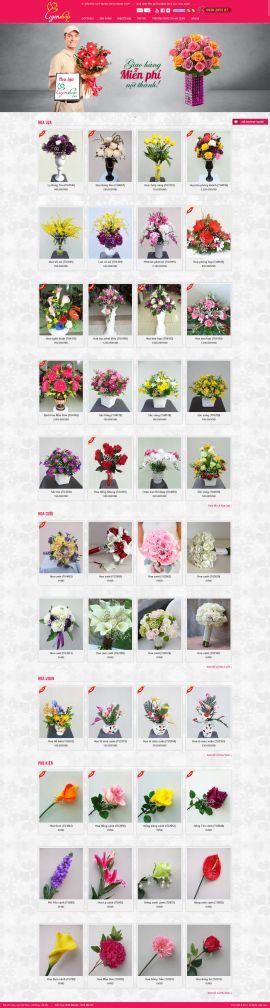 Mẫu website bán hoa 10123