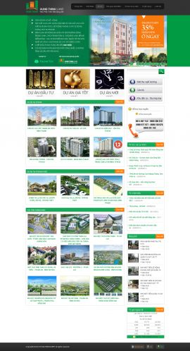 Mẫu website bất động sản 1033