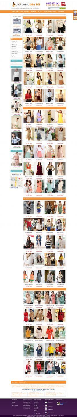 Mẫu website thời trang 10351