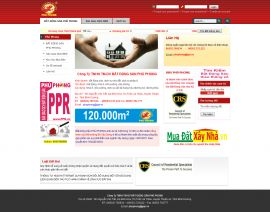 Mẫu website bất động sản 1034