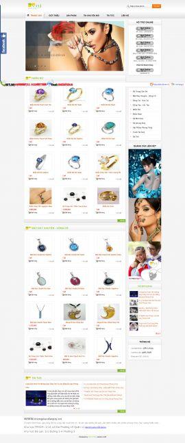 Mẫu website  trang sức 10411